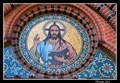 Image for Mosaic of Jesus at Tympanum of Kreuzkirche (Church of the Cross) Ottensen - Hamburg, Germany