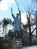 Image for Big Full-Color Statue of Stonewall Jackson - Lexington, VA