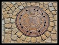 Image for Manhole Cover with the City Coat of Arms  - Nové Mesto nad Metují, Czech Republic