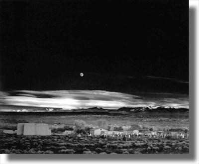 Moonrise Hernandez New Mexico Ansel Adams Photo Hunt On