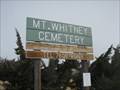 Image for Mt. Whitney District Cemetery - Lone Pine, CA