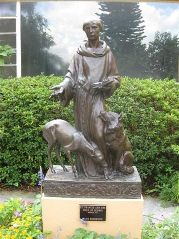 St Francis And The Wolf Of Gubbio Albin Polasek