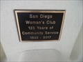 Image for San Diego Woman's Club  -  125 Years  -  San Diego, CA