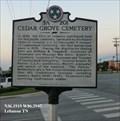 Image for Cedar Grove Cemetery -  Lebanon TN