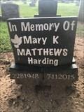 Image for Mary K. Matthews Harding - Guthrie, OK