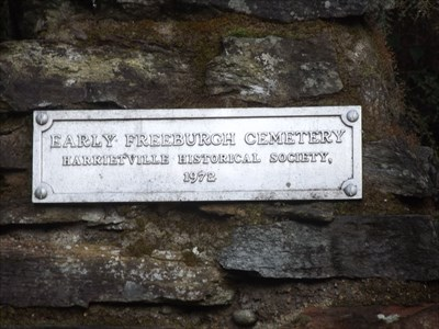 Close-up of the plaque at the Abandoned Cemetery site. 0805, Tuesday, 17 May, 2016