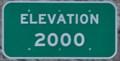 Image for Virgin River Gorge - Elevation 2000 Feet (I-15 Southbound)