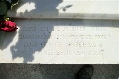 Heinrich Heines Grave(in Montmartre Cemetery)