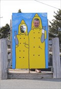 Image for Fishermen Cutout - Indian Harbour, Nova Scotia
