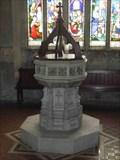 Image for Modern Stone Font, St Lawrence, Evesham, Worcestershire, England
