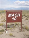 At Holloman AFB, NM.  The world land speed record of ~8.5 mach was set here on the sled test track a few years ago.