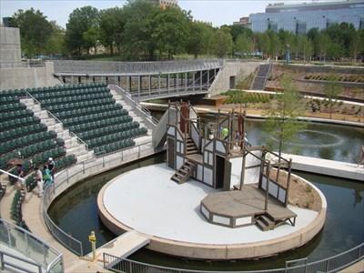 Myriad Gardens Water Stage Oklahoma City Ok Live Theaters On Waymarking