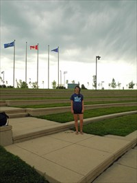 TransCanada Amphitheatre, with bystander for scale