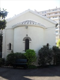 Back side of the Greek Orthodox Church of Bordeaux