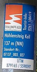 Image for UTM 379165 / 5590597 - Höhlen- und Schluchtensteig - Kell, RP, Germany