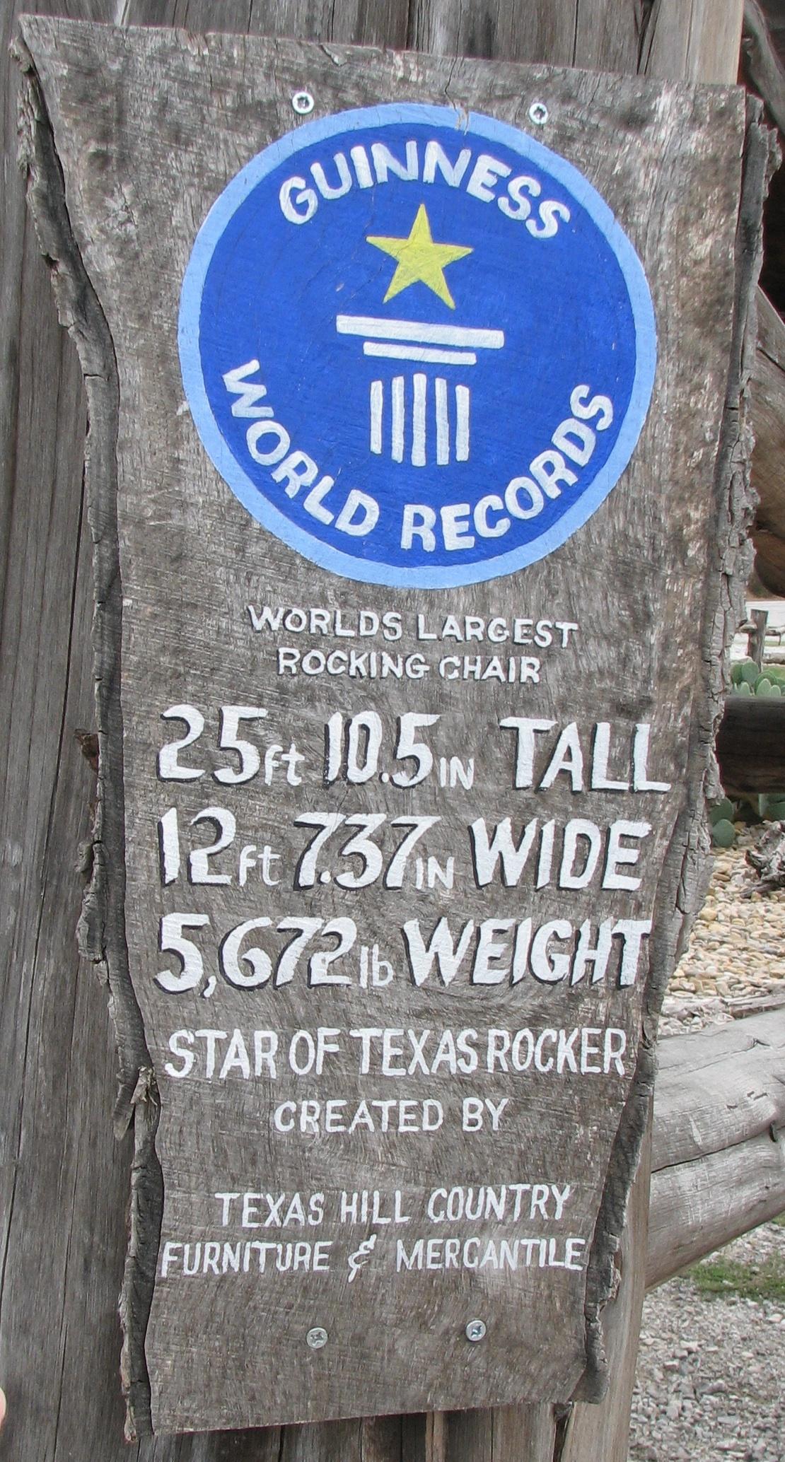 Astonishing Worlds Largest Rocking Chair Star Of Texas Frankydiablos Diy Chair Ideas Frankydiabloscom