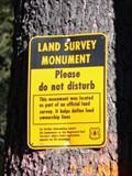 Image for Deschutes National Forest Land Survey Monument - La Pine, Oregon