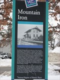 Image for Mountain Iron Historical Marker– Mountain Iron, MN