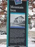 Image for Mountain Iron Historical Marker– Mountain Iron, MN