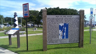 The civil war area behind the Crystal Coast Vistor