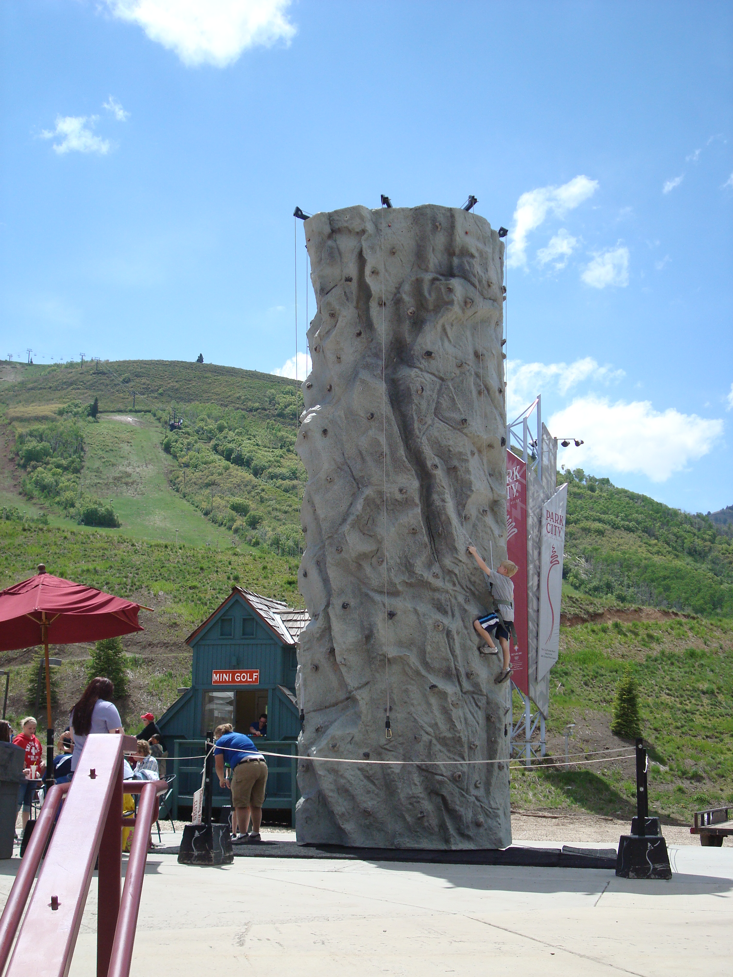 climbing wall @ park city mountain resort - park city, utah image