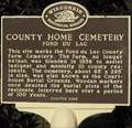 Image for Fond du Lac County Home Cemetery - Fond du Lac, WI