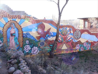 Santa Fe Barrio Mural #2  Murals On Waymarkingm. Mapua Lettering. Orange Triangle Banners. Glitter Lettering. Mind Stickers. Jdm Decals. Baseball Stickers. Veterinary Decals. Landing Decals