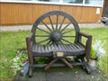 Image for Wagon Wheel Memorial Bench - Talke, Stoke-on-Trent, Staffordshire.
