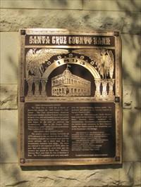 SC Cnty Bank Sign, Santa Cruz, CA