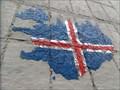 Image for Iceland Map & Flag Mural  -  Reykjavik, Iceland