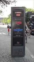 Image for Cycle Sign Time And Temperature Information - Copenhagen, Denmark