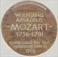 Image for Wolfgang Amadeus Mozart - Ebury Street, London, UK