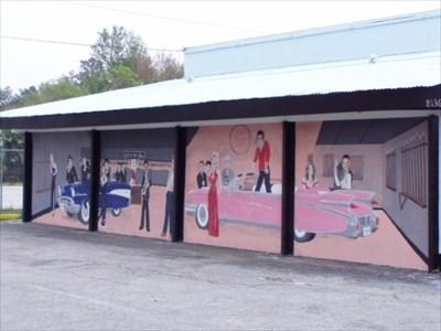 57 heaven club   jacksonville  florida   murals on waymarking com