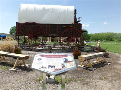 As you trip on Route 66, You cant miss The largest covered wagon in the World, Mair Wales & I visited on day 2 of our 66 Road trip.