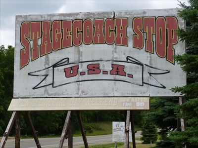Lord Abercrombie visited US12/Michigan Avenue -  Stagecoach Stop USA - Onsted, MI