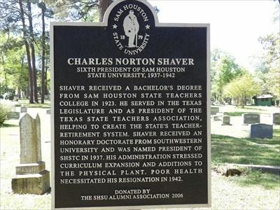 Charles Norton Shaver - Oakwood Cemetery, Huntsville, TX
