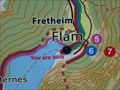 Image for Flåm Valley You Are Here Map - Flåm, Norway