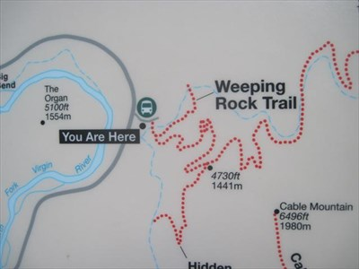 Zion Trail Map on