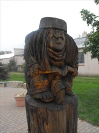 Troll Tricyclist - Mt  Horeb, WI - Outside Wooden Display