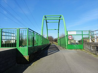 The deck carries the Spen Valley Greenway Cycle track