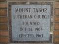 Image for 1963 - Mount Tabor Lutheran Church - Salt Lake City, UT