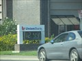 Image for Union Bank Time and Temperature sign - Hollsiter, CA