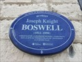 Image for Plaque bleue Joseph Knight Boswell - Québec, Qc