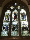 Image for Three Stained Glass Windows - Llandaff Cathedral - Cardiff, Capital of Wales.