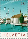 Image for Zurich Townscape featuring the Wasserkirche - Zurich, Switzerland