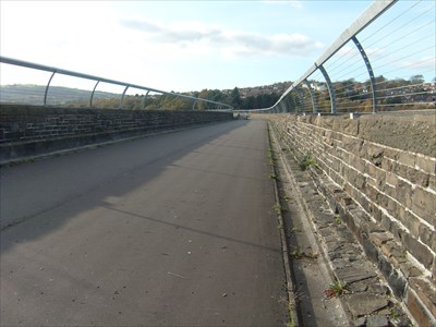 View showing Cycle track, Hengoed Railway Viaduct, Maesycwmmer, Wales