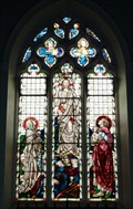 Image for Stained Glass, St Catherine's Church, Sacombe, Herts, UK