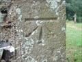 Image for Cut Bench Mark on Selmeston Church, Sussex.
