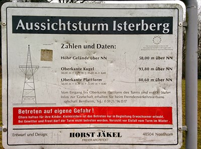 Aussichtsturm Isterberg Info