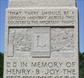 Image for Henry Joy Monument -- I-80 exit 283 Rest area, east of Laramie WY